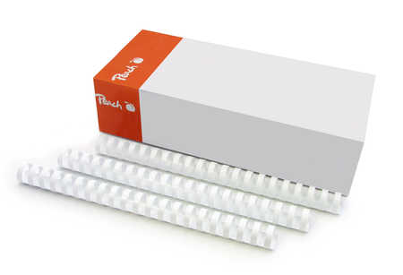Peach Binding Combs 21 Rg A4 20mm, white