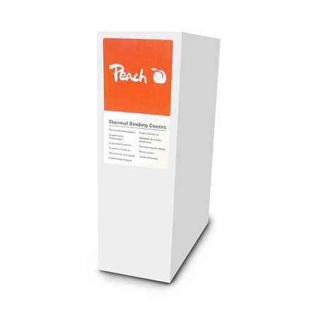 Peach Thermal Binding Covers A4 12mm white