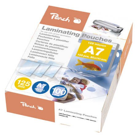 Peach Laminating Pouch A7 (111x154mm), 125mic