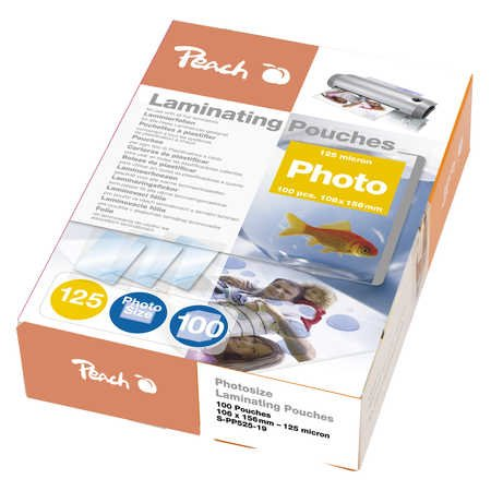 Peach Laminating Pouch Photosize 10x15 cm (80x111mm), 125mic