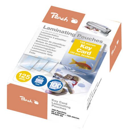 Peach Laminating Pouch Key Card (64x99mm), 125mic