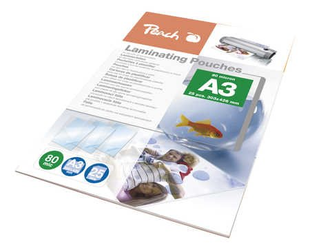 Peach Laminating Pouch A3 (303x426mm), 80mic