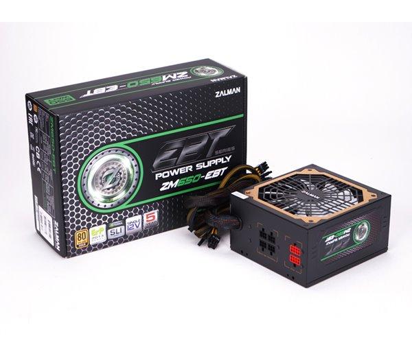 ZALMAN ZM650-EBT, zdroj, 650W, eff. 92% 80Plus, Gold, ATX12V, aktívne PFC, 135mm ventilátor, modular