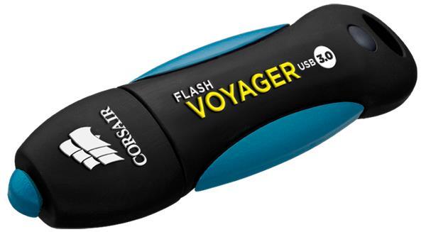 Corsair USB kľúč Voyager USB 3.0 64GB, gumový povrch, vodeodolný, 190/55MB/s