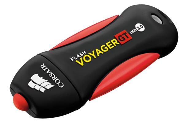 Corsair USB kľúč Voyager GT USB 3.0 64GB, gumový povrch, vodeodolný, 240/100MB/s
