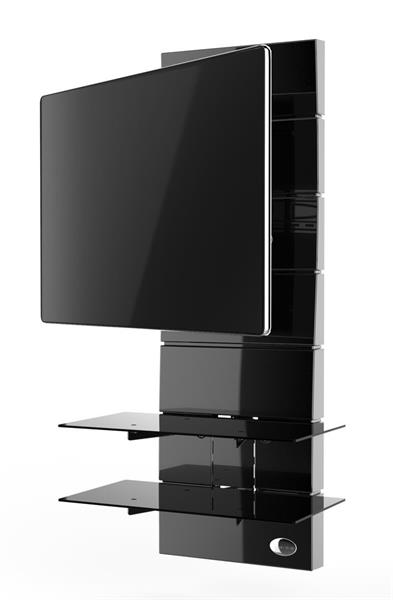 Meliconi GHOST DESIGN 3000 ROTATIONGloss Black Wall Fi