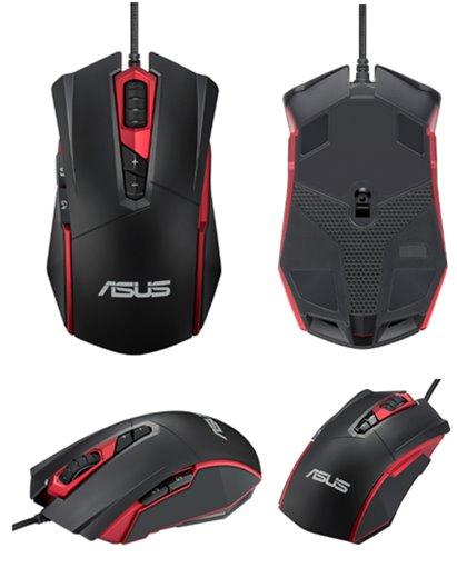 ASUS MOUSE GT200 laser gaming black - herná laserová drôtová myš; čierna