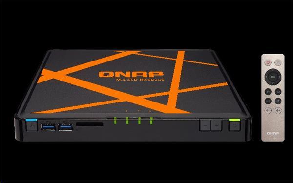 QNAP™ TBS-453A-4G 4-Bay M.2 SSD NASbook Intel® Celeron® N3150 quad-core 1.6GHz 4GB DDR3