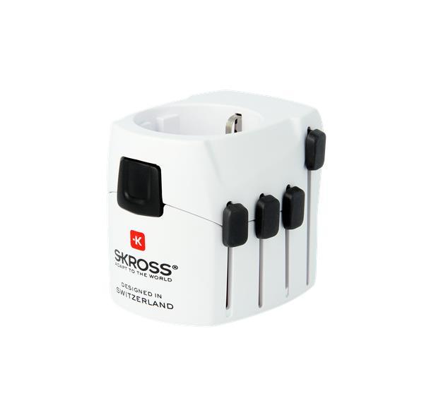 SKROSS Cestovný adaptér PRO, 6.3A max., uzemnený, vysúvací, univerzálny pre celý svet