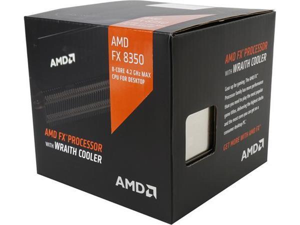 AMD, FX-8350 Processor BOX, soc. AM3+, 125W Wraith Cooler