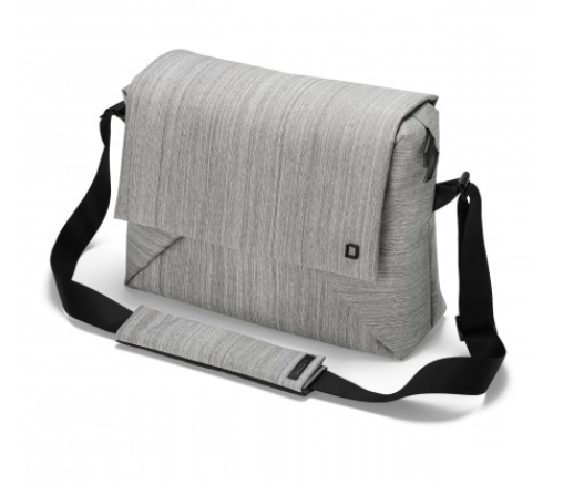 DICOTA_Code Messenger 13-15, Stylish notebook bag with tablet pocket grey
