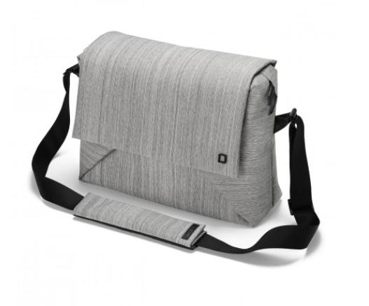 DICOTA_Code Messenger 13-15, Stylish notebook bag with tablet pocket grey