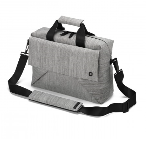 DICOTA_Code 11-13, Stylish toploaded notebook bag with tablet pocket grey