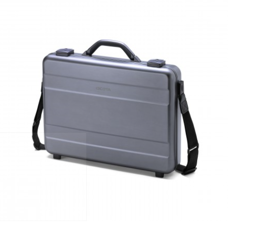 DICOTA_Alu Briefcase 15-17.3, Durable aluminium notebook bag wit tablet compartment