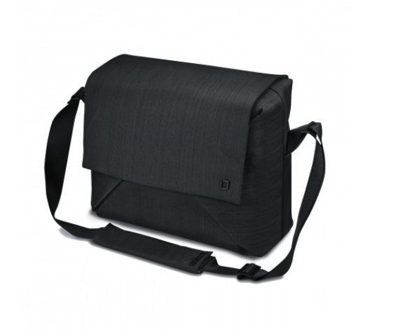 DICOTA_Code Messenger 13-15, Stylish notebook bag with tablet pocket black