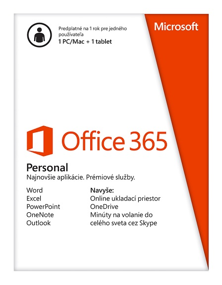 Office 365 Personal - Slovak Medialess