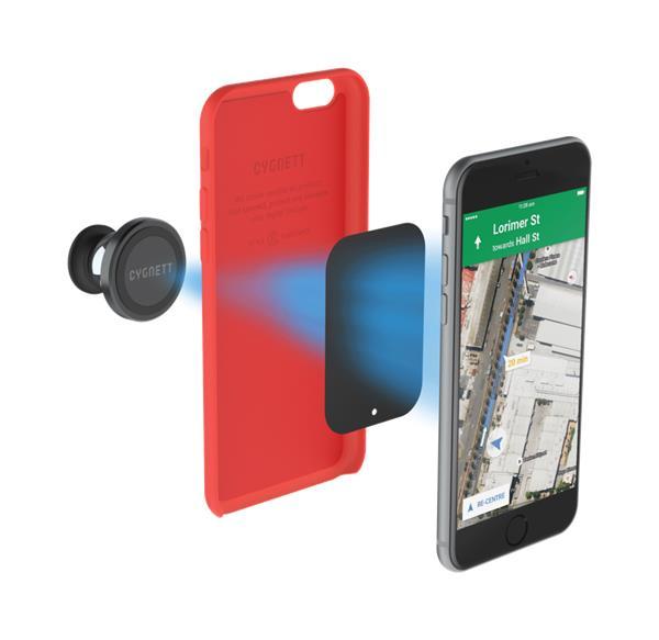 Cygnett, MagMount 360, auto-držiak pre smartfóny s magnetickým uchytením prístroja a prísavkou na okno a palubovku