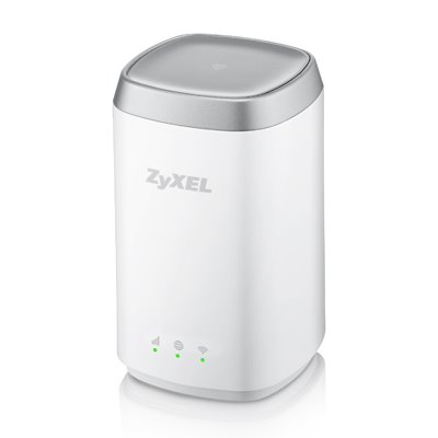 ZyXEL LTE 4506 4G LTE-A 802.11ac WiFi HomeSpot Router, 300Mbps LTE-A, 1GbE LAN, Dual-band WiFi AC1200, Micro USB charger