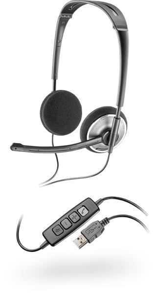 Plantronics Audio 478 slúchadlá s mikrofónom, DSP, USB, čierne