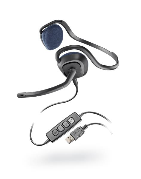 Plantronics Audio 648 slúchadlá s mikrofónom, DSP, USB, čierne