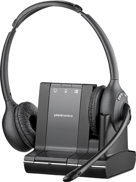 Plantronics SAVI W720/A, DECT bezdrôtová náhlavná súprava na obe uši so sponou