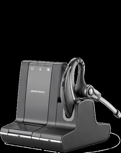 Plantronics SAVI W730/A, DECT bezdrôtová náhlavná súprava na jedno ucho s háčikom