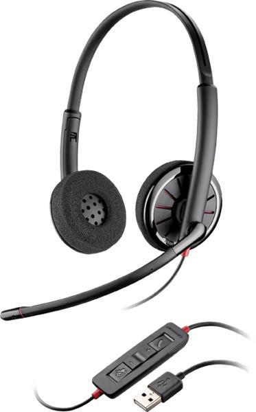 Plantronics BLACKWIRE C320-M Microsoft, náhlavná súprava na obe uši , Stereo