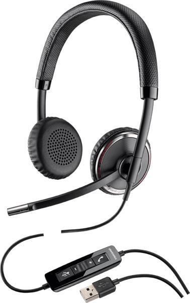 Plantronics BLACKWIRE C520-M Microsoft, náhlavná súprava na obe uši, Stereo