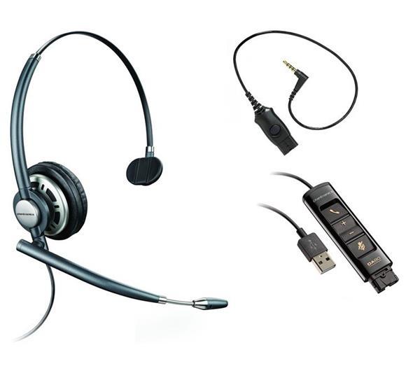 Plantronics ENCOREPRO HW710 bezdrôtová náhlavná súprava na jedno ucho + DA80 + MO300