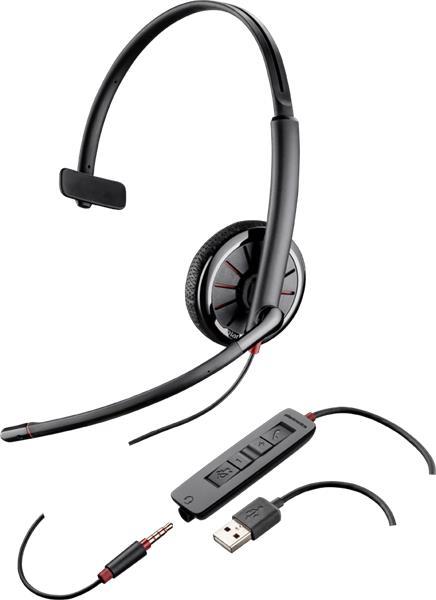 Plantronics BLACKWIRE 315.1-M Microsoft, náhlavná súprava na jedno ucho so sponou
