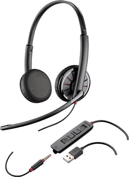 Plantronics BLACKWIRE C325.1-M Microsoft, náhlavná súprava na obe uši, Stereo