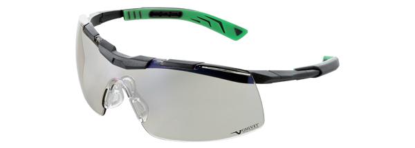 Okuliare Univet 5X6, číre sklá s povrchovou vrstvou proti poškriabaniu, UV400, vhodné na použitie a prechody medzi vnútr