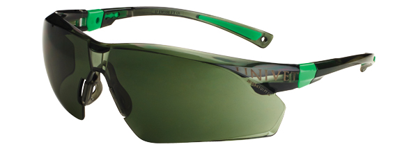 Okuliare Univet 506UP, čierno-zelený rám, zelené sklá s povrchovou vrstvou proti poškriabaniu, UV400, vhodné na šoférov.