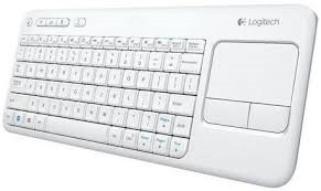 Logitech® Wireless Touch Keyboard K400 Plus white (US International)