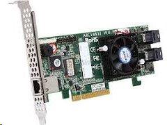 ARECA 8port (2x SFF-8643 12Gb/s SAS RAID, 2GB DDR3, PCIe x8 Card, LP