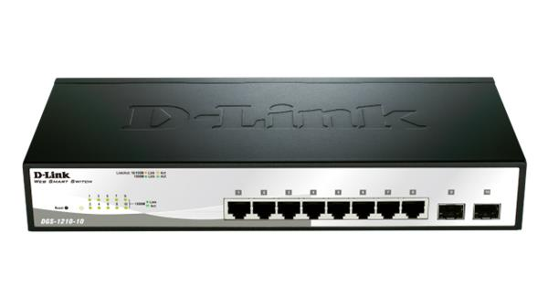 D-Link DGS-1210-10 8-port 1Gb Smart switch, 2x SFP