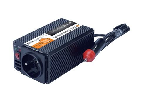 Solight menič napätia 12V, USB 500mA, kovový, čierny, max. zaťaženie: 200W