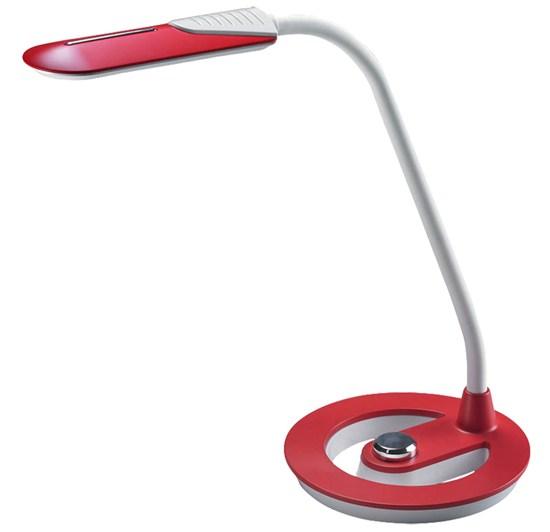 Solight LED stolná lampička, 6W, 4100K, stmievateľná, bieločervená farba