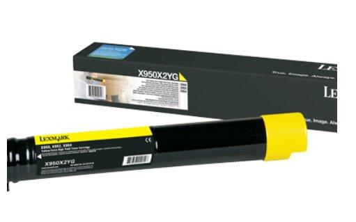 Lexmark X95x Yellow Extra High Yield Toner Cartridge 22K
