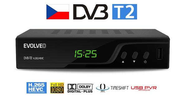 EVOLVEO Omega T2 HD DVB-T2 H.265/HEVC rekordér