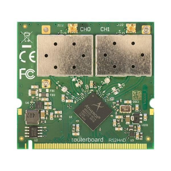 MIKROTIK RouterBOARD R52HnD Dual-band miniPCI card 802.11a/b/g/n (MMCX)