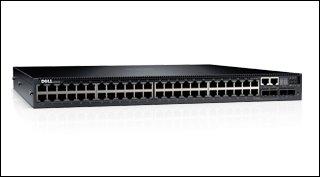 Dell Networking N3048 L3 48x 1GbE 2xCombo 2x 10GbE SFP+ fixed ports Stacking IO to PSU airflow 1x AC PSU