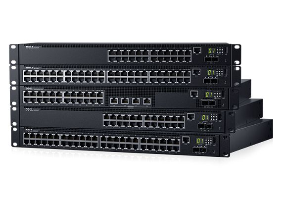 Dell Networking N2024P L2 POE+ 24x 1GbE + 2x 10GbE SFP+ fixed ports Stacking IO to PSU air AC