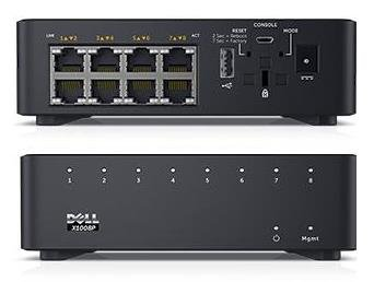 Dell Networking X1008 Smart Web Managed Switch 8x 1GbE ports AC or POE powered