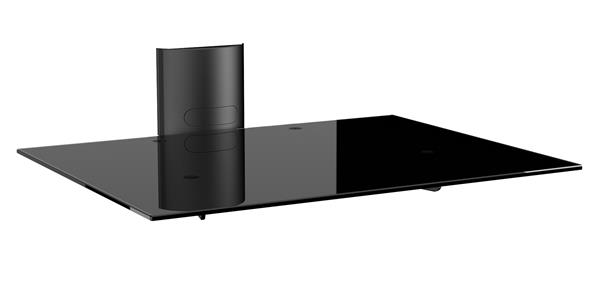 Meliconi STILE AV SUPPORT PLUS A/V Equipment Mount with Tempered Glass Tray for units up to 12kg