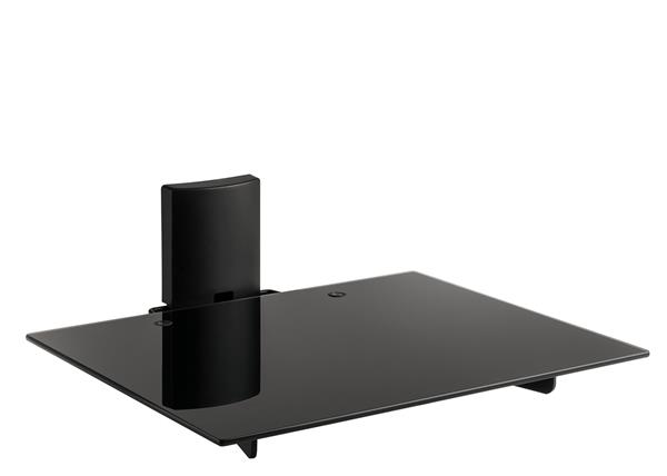 Meliconi SLIM STYLE AV SHELF PLUS A/V equipment wall mount with tinted glass shelf, carrying up to 12kg