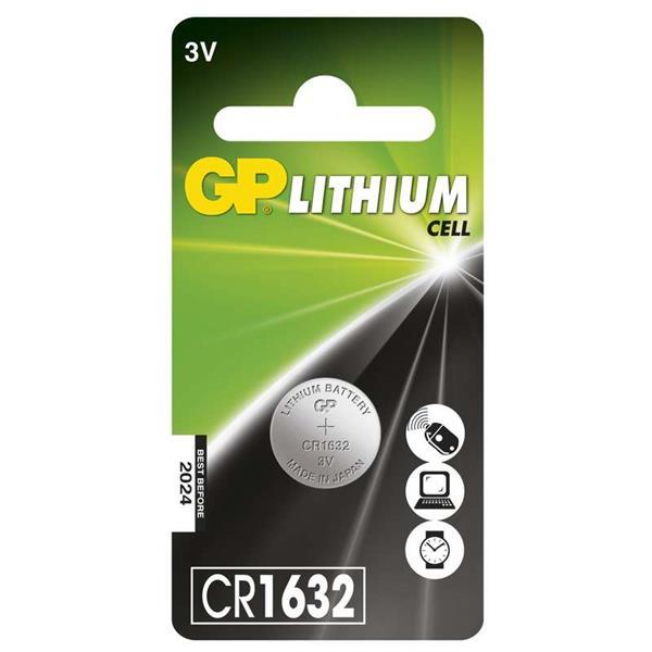 GP batéria líthiová gombíková CR1632. Cena za 1 kus. Blister