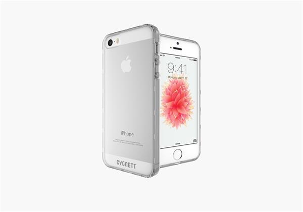 Cygnett, obal AeroShield Crystal pre iPhone 5/5S/SE, PC/TPU, priehľadný