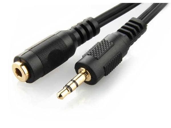 Kábel 3,5 mm stereo audio predlžovací kábel, 5m