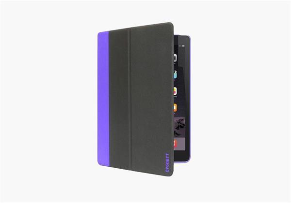 Cygnett TekShell, štíhly obal/stojan pre iPad Mini 4, čierno/fialový
